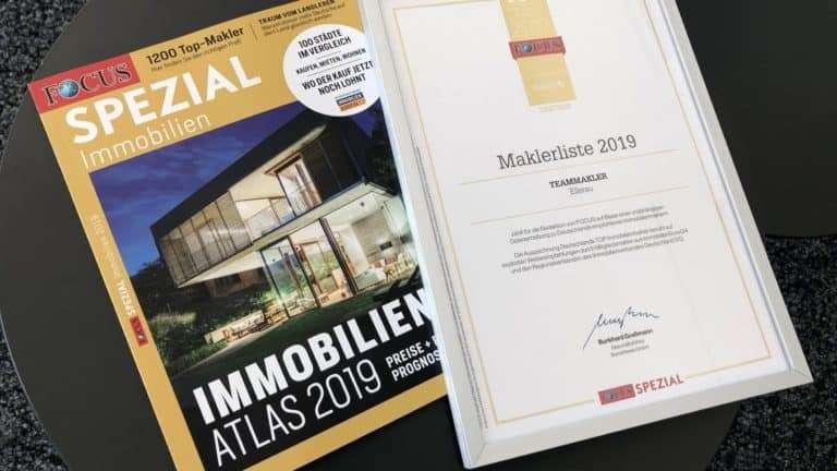 Focus Auszeichnung: Teammakler gehört wieder zu den Top Immobilienmaklern Deutschlands