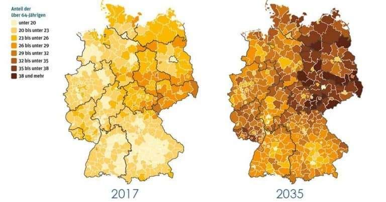Demographischer Wandel: Wie entwickelt sich Deutschland bis 2035?