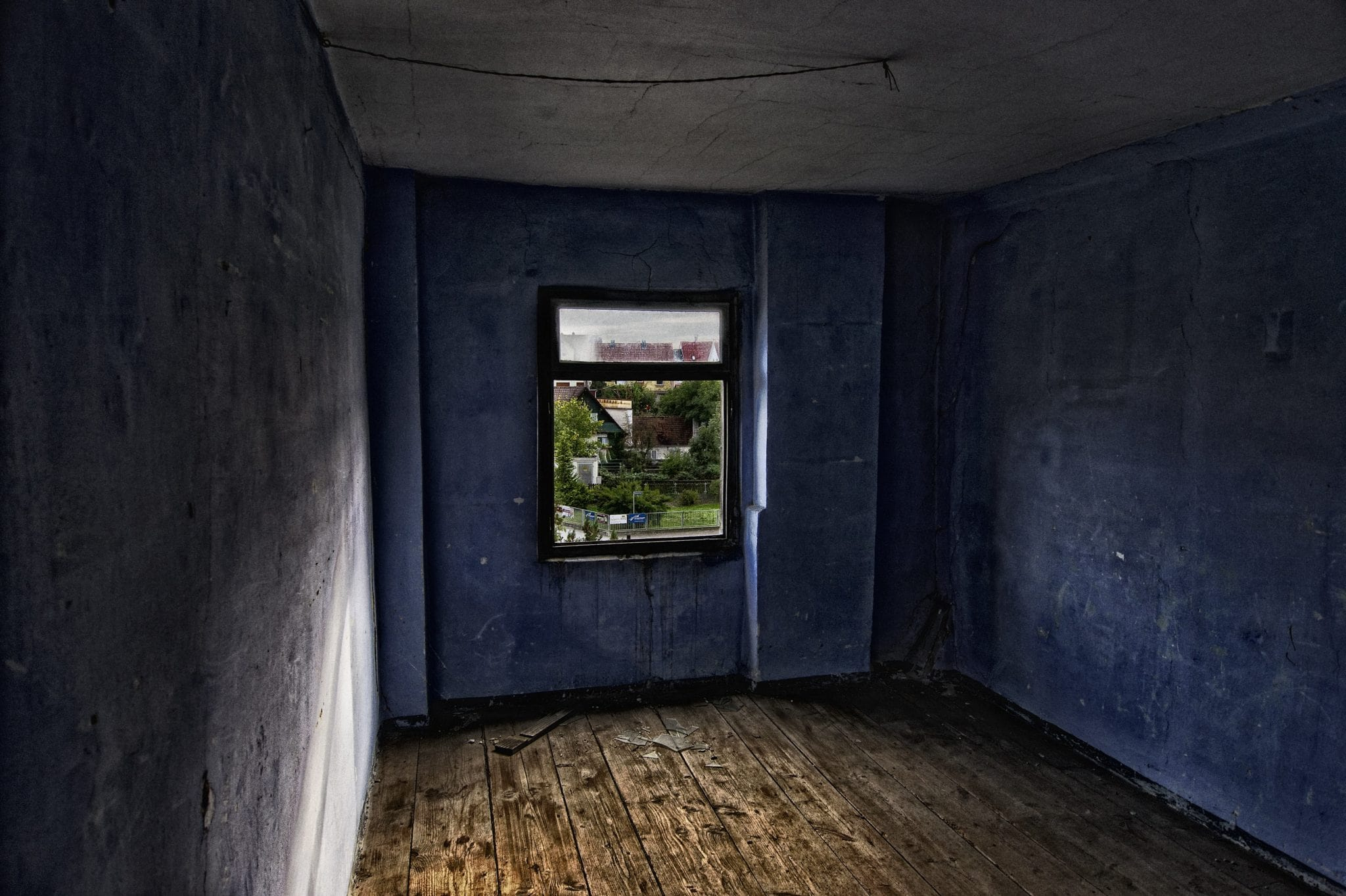 Dunkles Zimmer