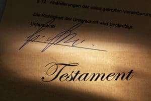 Immobilie im Testament