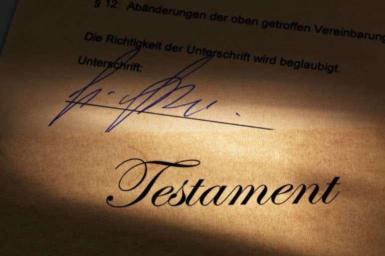 Die Immobilie im Testament